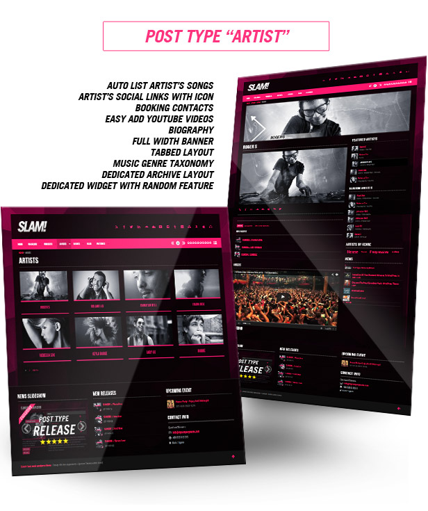 Musicians, Music label, Music Band and Dj music wordpress theme